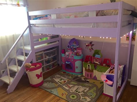 ana white camp loft bed  stairs diy projects