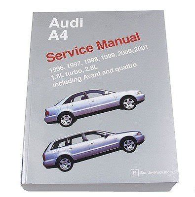 car repair manuals online pdf 1996 audi a6 parental controls audi a4 s4 avant quattro 1996 2001 1 8l 2 8l service repair manual bentley software