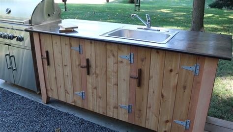 diy outdoor kitchen cabinets how to build an outdoor kitchen cabinet jon peters art