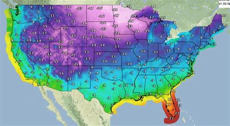 us weather map in celsius record low temperatures forecasted as arctic blast