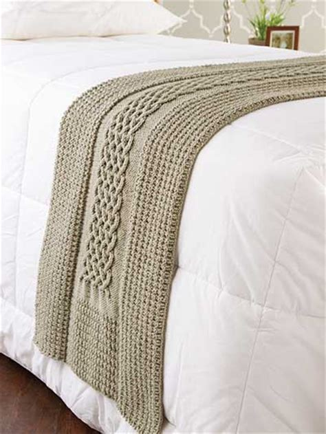 knitted bed throw pattern knitting diamonds cables bed runner ek00627