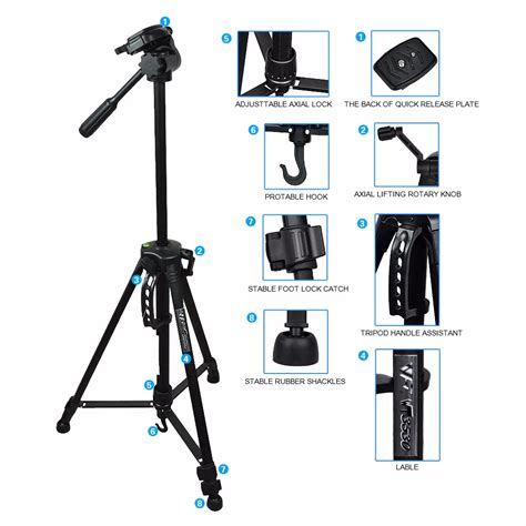 Weifeng Portable Lightweight Tripod Stand 4section Aluminium T1310 2 professional tripod for digital canon nikon sony dslr camcorder ebay