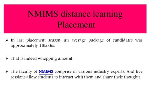 Nmims Distance Mba by Review About Narsee Monjee Distance Learning Pgdm Courses