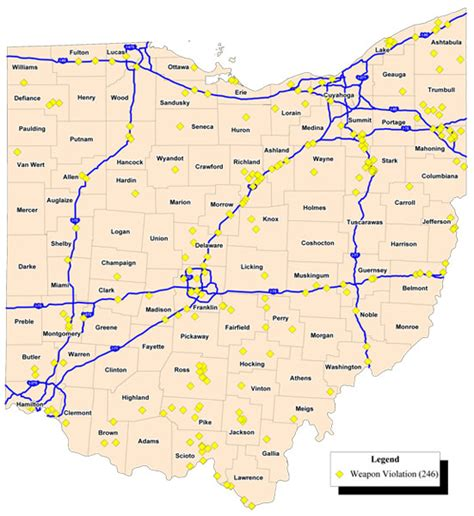 ohio road map wisconsin highway and interstates of ohio images