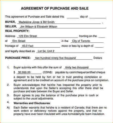 business purchase agreement template sle purchase and