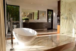 Warm contemporary master bath contemporary bathroom