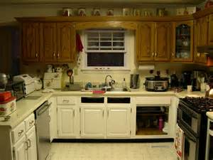 Painted Old Kitchen Cabinets Painting Kitchen Cabinets