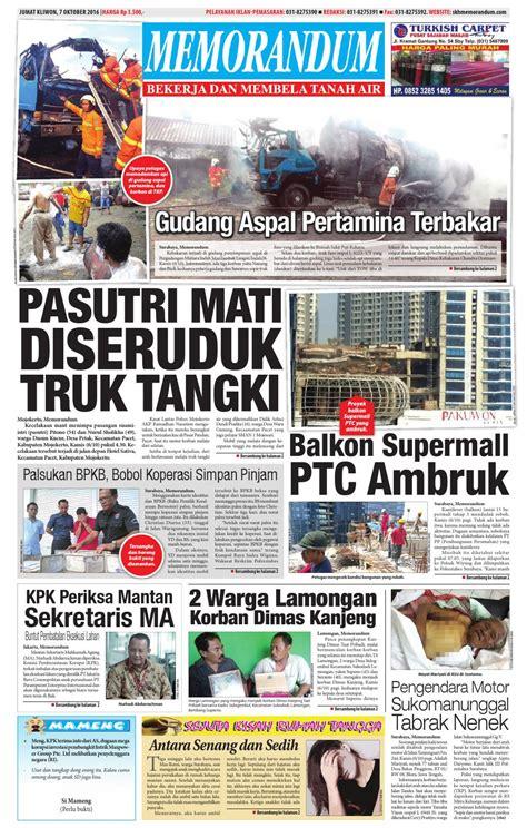 memorandum edisi 7 oktober 2016 by memorandum issuu