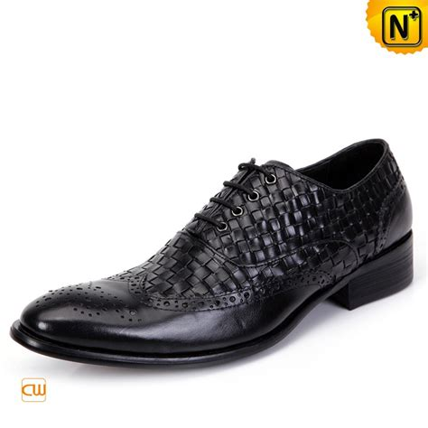 Leather Handmade Shoes - mens handmade leather brogue shoes black cw761130