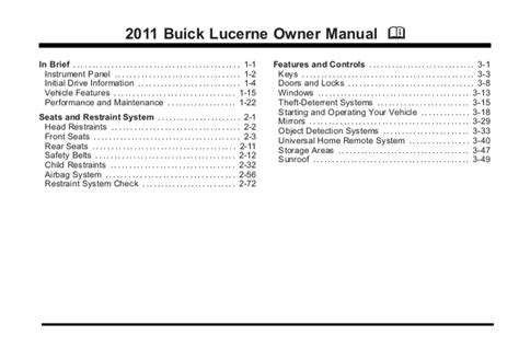 electric and cars manual 2011 buick lucerne user handbook service manual 2010 buick lucerne service manual free download free download 2010 buick