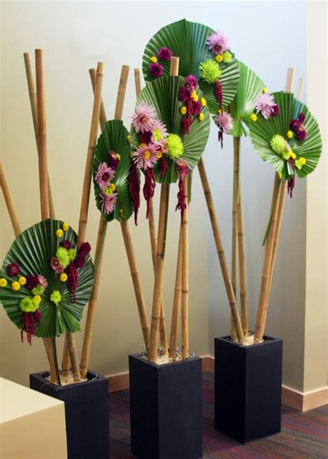 Arcadia Home Decor by Bamboo Sticks And Palm Fans Floral Design Pinterest