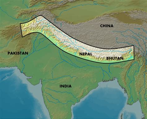 himalayan mountains map western himalaya