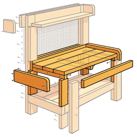 how to make a potting bench diy how to build a wooden potting bench plans free