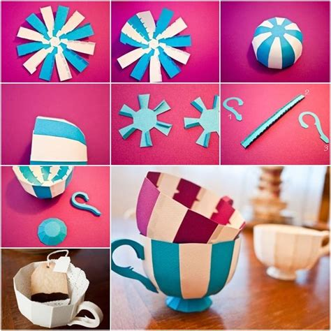 How To Make Newspaper Paper - how to make colorful striped paper teacups tutorial and
