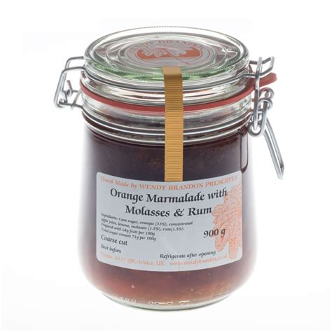 Molasses Sugar 900g orange marmalade with molasses and rum parfait jar 900g