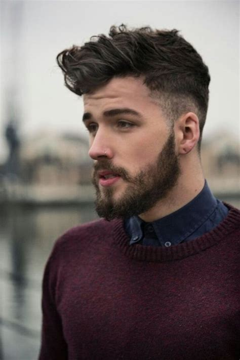 pics of men with buzzed sides male model with hair buzzed on the sides and longer on top