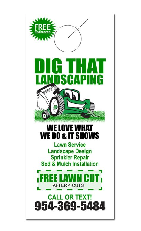 The Gallery For Gt Lawn Service Flyers Lawn Care Door Hanger Template