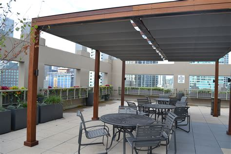 Deck Shade Canopy Chicago Roof Deck Turns To Shadefx For Shade And Privacy