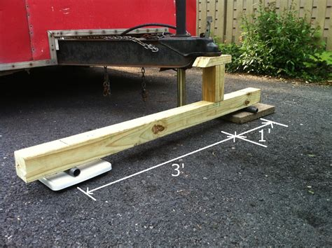 weighing boat and trailer measuring trailer tongue weight with a bathroom scale