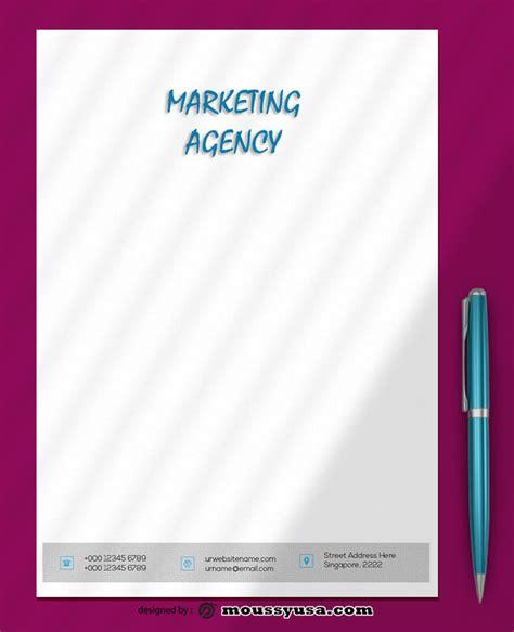 marketing agency letterhead psd design mous syusa