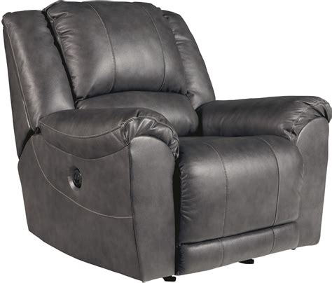 charcoal recliner persiphone charcoal power rocker recliner from ashley