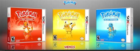 fan made pokemon games fan made pokemon red yellow blue 3ds game cases how i
