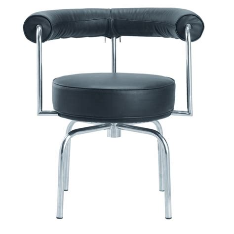 black swivel armchair lc7 swivel armchair in black leather modern in designs