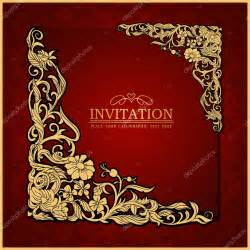abstract background with antique luxury red vintage frame