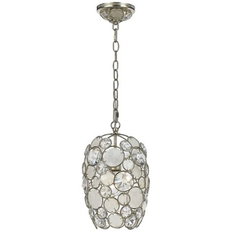 Chandelier And Pendant Lighting Palla 1 Light 13 Quot Antique Silver Pendant Chandelier With Capiz Shell Mini Pendants