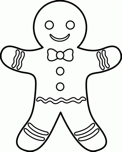 gingerbread man coloring page pdf gingerbread man outline coloring home
