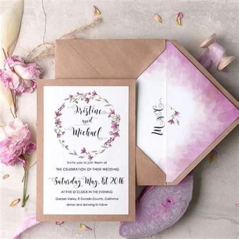 Wedding Invitations Watercolor by 23 Pretty Watercolor Wedding Invitations To Get Inspired