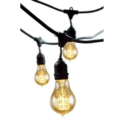 industrial string lights lowes shop cascadia lighting 48 ft light yellow shade in