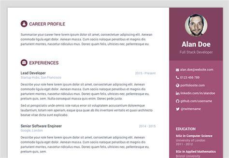template cv html5 free responsive cv resume html5 template resumes cv