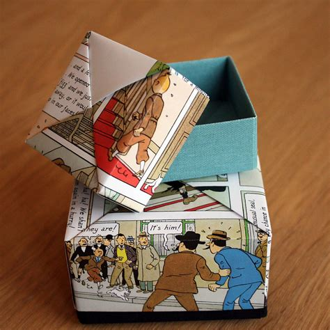 Origami Box Book - comic book origami box by identity papers