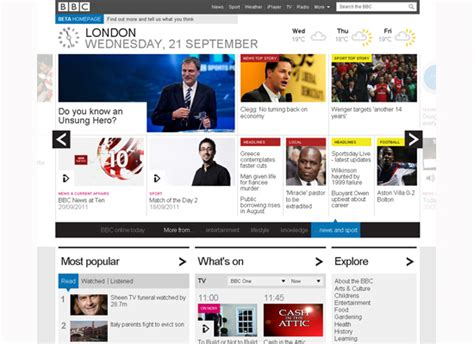 news section website design bbc launches new website design trusted reviews