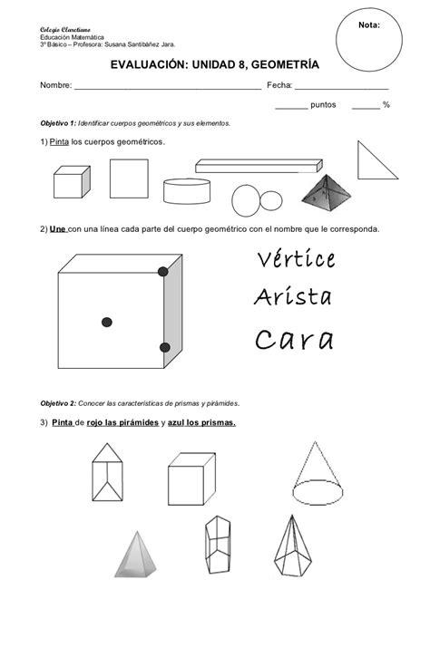 guia de cuerpos geometricos primero basico imagui