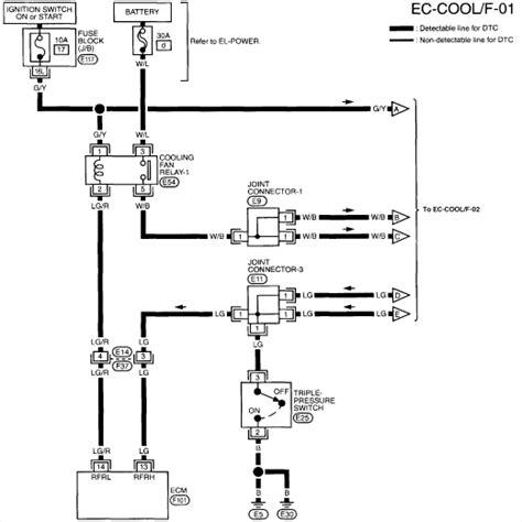 2000 nissan maxima radiator fan not working nissan radiator fan wiring diagram 34 wiring diagram