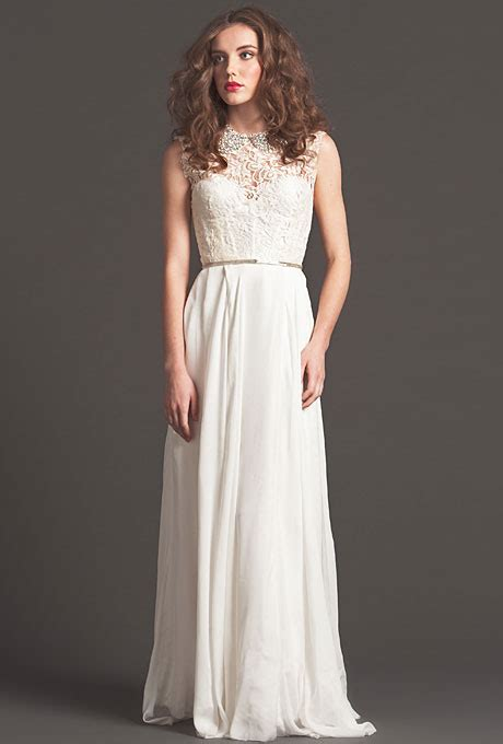 Dress Seven seven fall 2013 mademoiselle sleeveless a line wedding dress with lace bodice with