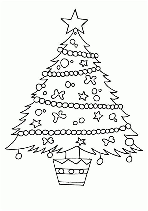 christmas tree pictures to print printable coloring pages