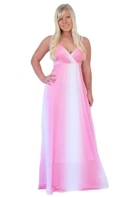 pink plus size dresses pink empire waist plus size maxi dresses 2018 50 dollars