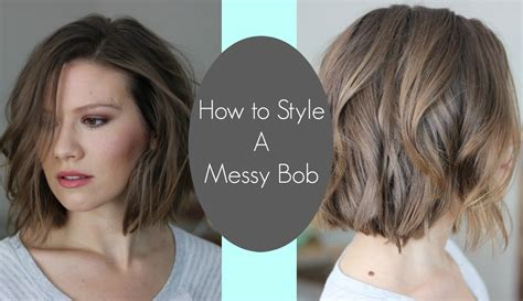 How To Create Messy Bob | how i style my messy bob laura s natural life youtube