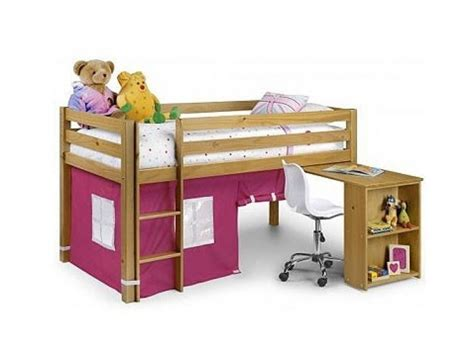 julian bowen wendy pine mid sleeper bed frame with pink