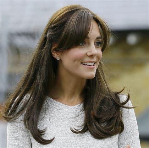 fleco largo peinados semirecogidos kate middleton con fleco y cabello