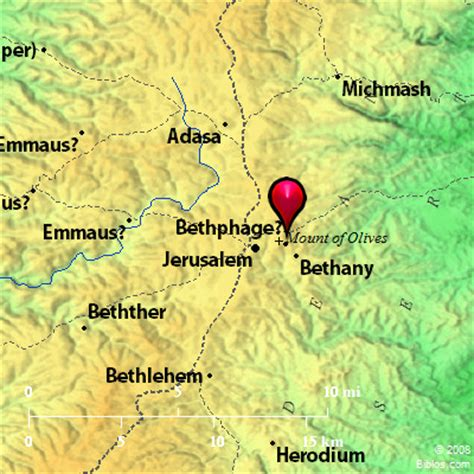 bethany jerusalem map bible map bethphage