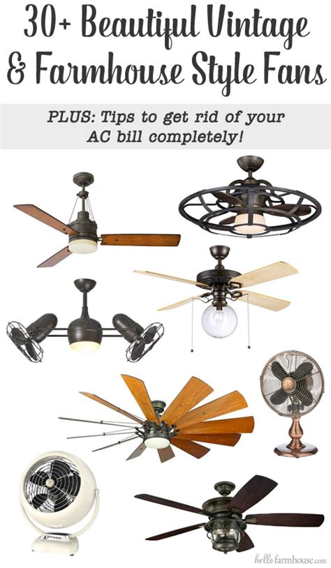 farmhouse style ceiling fans 30 beautiful vintage farmhouse style fans to keep you