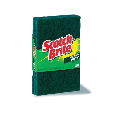 Command Scouring Pad 3m scotch brite heavy duty scouring pad package 3 each