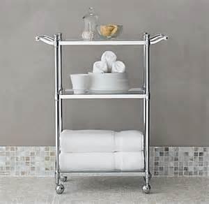 bathroom storage cart newbury rolling bath cart