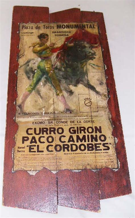 Decoupage Poster - mexican advertising bullfight poster decoupage