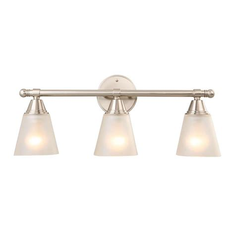 Hton Bay 4 Light Brushed Nickel Wall Vanity Light Cbx1394 2 Sc 1 The Home Depot by Hton Bay 3 Light Brushed Nickel Vanity Light Gjk1393a 4 Bn The Home Depot