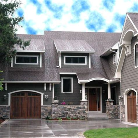 grey house colors light gray shingles dark gray walls white trim and stone